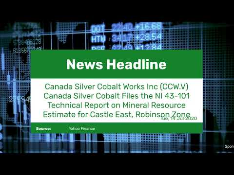 Canada Silver Cobalt Works Inc (CCW.V) Canada Silver Cobalt Files the NI 43-101 Technical Report on