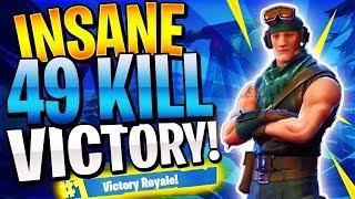 CRAZY 49 KILL SQUAD WIN! (Fortnite Battle Royale)