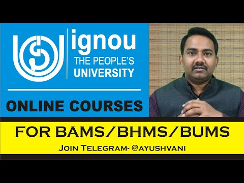 IGNOU Courses for BAMS | Ayurveda Diploma and Certificate | Earn with healthcare UPSC UPPSC AIAPGET