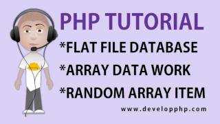 PHP Random Array Content From Flat Text File Database Tutorial