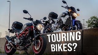 SV650 & MT-07 Good Touring Bikes? [Comparison & Mini Adventure]