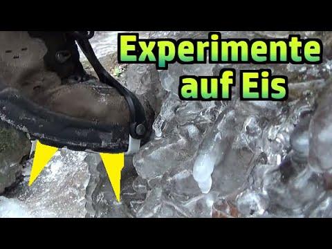 Experimente auf Eis: Steigeisen vs. Grödel #202