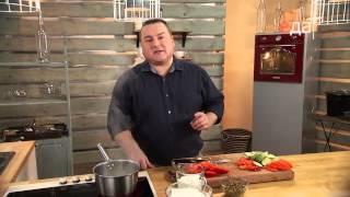Филе куриное в чесночном соусе на манер лазаньи