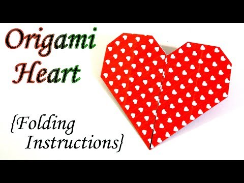 Easy Origami Heart Folding Instructions Needlepointers Video