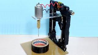 how-to-make-super-mini-drill-press-table-using-scrap-cd-rom-driver