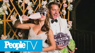 Justin Hartley & Chrishell Stause's Wedding Menu & Ombré Cake | PeopleTV