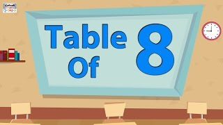 8 Times Table Multiplication   Learn 8x Table   Learn Eight Multiplication Tables For Kids