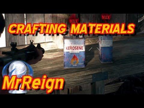 Days Gone - Crafting Materials - Kerosene - Spark Igniter - Polystyrene - Gun Powder - Airbag