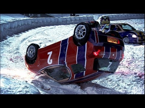 Car Ice Hockey Mayhem | Top Gear Winter Olympics | BBC