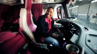 Download Youtube: Volvo Trucks - Driver Dagmar Klink shows her pink Volvo FH -
