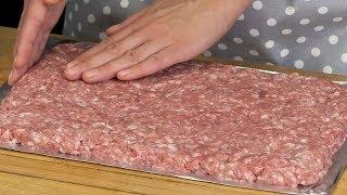 Всего 3 ингредиента! Очень вкусный мясной рулет быстрого приготовления! | Appetitno.TV
