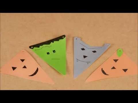 Déco Halloween DIY : la guirlande de monstres rigolos