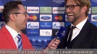 Juergen Klopp żartuje z Roberta Lewandowskiego / Jurgen Klopp jokes about Lewandowski