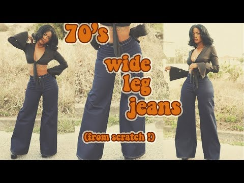 DIY 70's Wide Leg Jeans From Scratch !