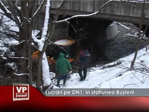 Lucrări pe DN1, în staţiunea Buşteni