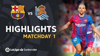 Highlights FC Barcelona vs Real Sociedad (4-2)