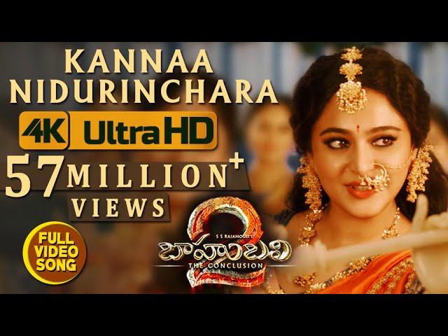 Kannaa Nidurinchara Full Video Song HD | Baahubali 2 Movie Songs| Prabhas, Anushka