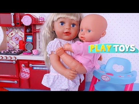 Baby Born Big Sister Doll Morning Feeding Routine Play! 🎀
