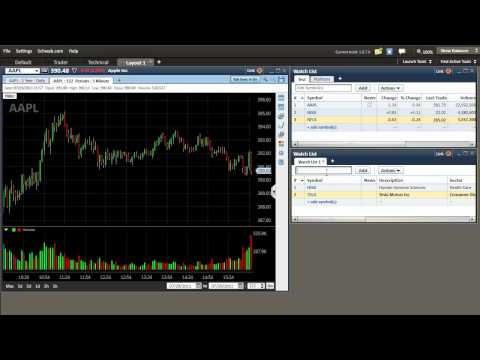 Schwab Streetsmart Edge Stock Watchlist Setup Tutorial