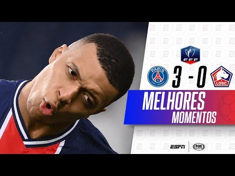 MBAPPÉ, VOCÊ É UM MONSTRO! Melhores momentos de PSG 3 x 0 Lille na Copa da França