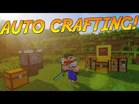 AUTOMATIC CRAFTING TABLE! | Minecraft Mod Showcase!