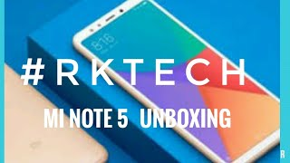 Xiaomi Redmi Note 5 Unboxing/hindi/#RK TECH