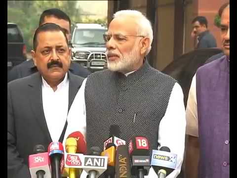 PM Modi's statement to Media outside Parliament ahead of the Winter Session of 2016