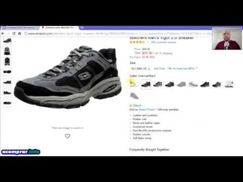 ¿Cómo comprar zapatos en Amazon.com en español? Cómo saber la talla americana