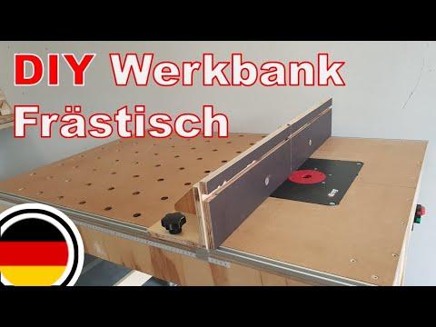 DIY mobile multifunktionale Werkbank + Frästisch selber bauen   Werkstatt aufbau