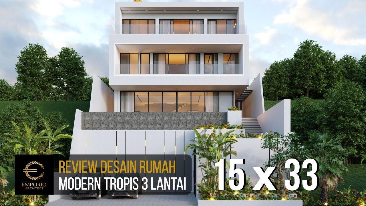 Video 3D Desain Rumah Modern 3 Lantai Ibu Connie di Bogor, Jawa Barat