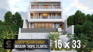Video Desain Rumah Modern 3 Lantai Ibu Connie di  Bogor, Jawa Barat