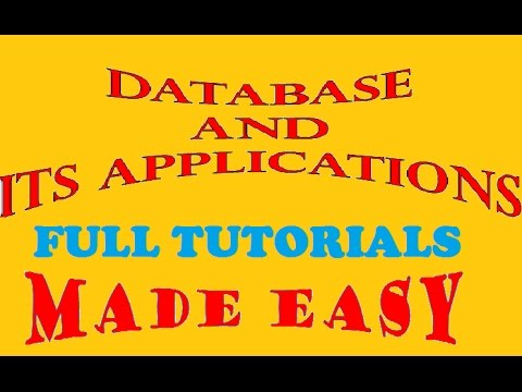 Database and Its Applications Full Course   Introduction to Database ...