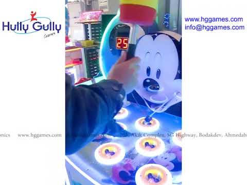 Mickey Hit A Mouse Arcade Game Machine