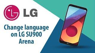 How to change language on LG Arena SU900?