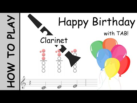 How to play Happy Birthday on Clarinet   Notes with Tab