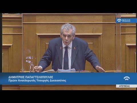 Ομιλία του Δημήτρη Παπαγγελόπουλου στη βουλή