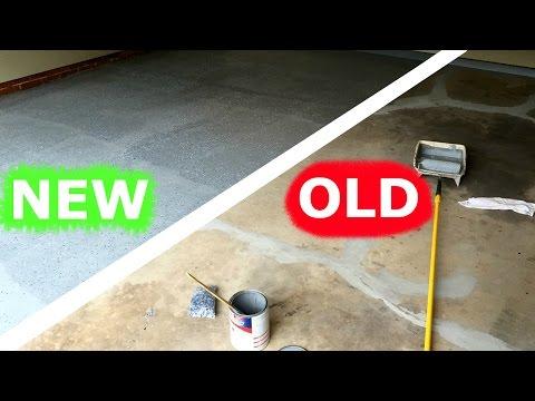 HOW TO PAINT YOUR GARAGE FLOOR AMAZING RESTORATION!