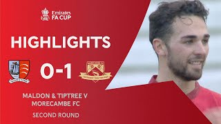 Phillips Strikes To Down The Jammers | Maldon & Tiptree 0-1 Morecambe | Emirates FA Cup 2020-21