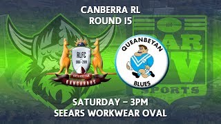 2018 Canberra RL 1st Grade Round 15 - Queanbeyan Kangaroos v Queanbeyan Blues | Kholo.pk