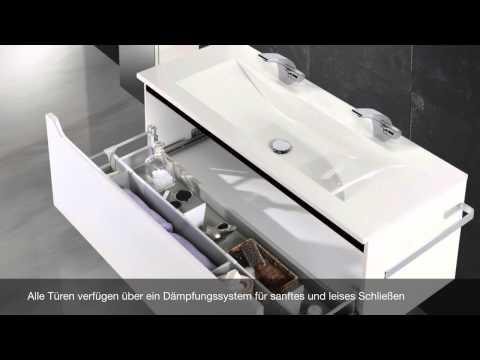 Novelli Badmöbel Design Doppelwaschtisch 120 cm