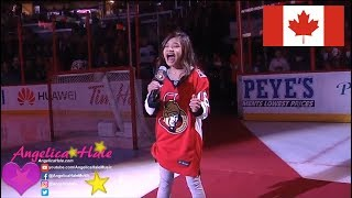 Angelica Hale Sings Canadian Anthem in Ottawa NHL Panthers vs Senators