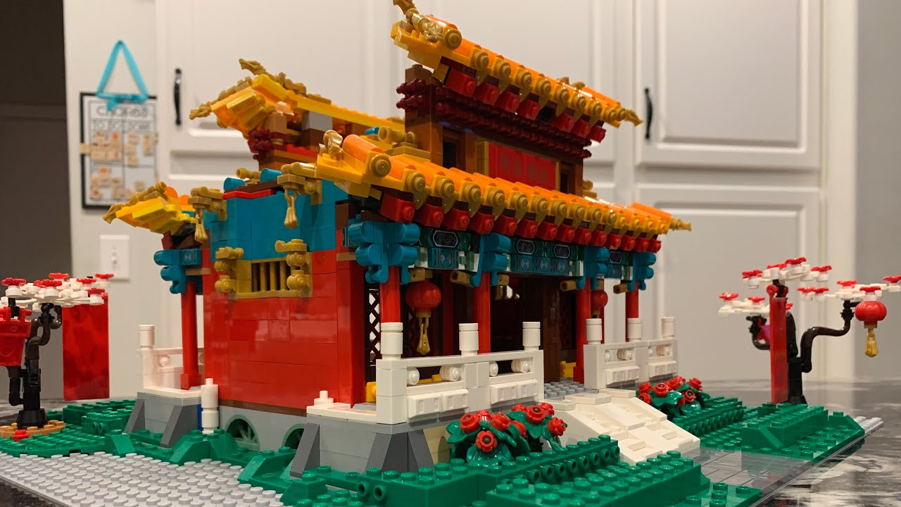 Lego Chinese New Year Temple Fair 80105 MOC - Complete Temple Building