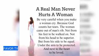 A REAL MAN NEVER HURTS A WOMAN QUOTES