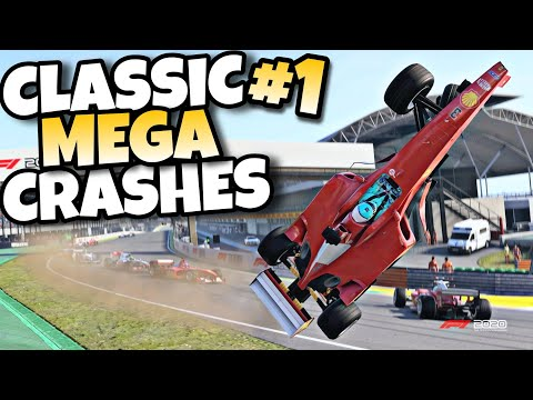 F1 2020 CLASSIC MEGA CRASHES #1