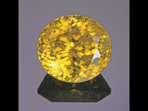 Yellow Zircon 9.15 cts