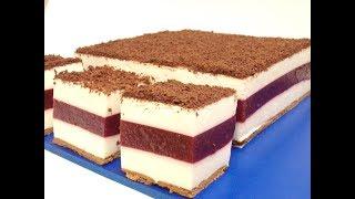 Ciasto śmietankowo - wiśniowe bez pieczenia