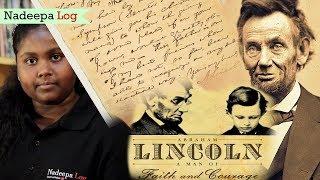 ඒබ්රහම් ලින්කන් යලි හඬ අවදි කරයි. | Nadeepa Log | Abraham Lincoln is talking again :)