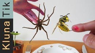 WASP STUNG VS SPIDER BITE  |#56 KLUNATIK COMPILATION    ASMR eating sounds no talk