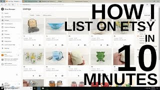 How I LIST Vintage on Etsy - Photographing, Etsy App with Tips