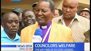 Over 4000 councilors who served in the defunct local government  meet in Nairobi to demand pension